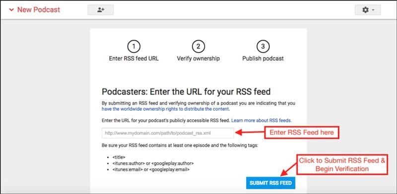 ایجاد فایل RSS برای هر پادکست با تگ های ضروری